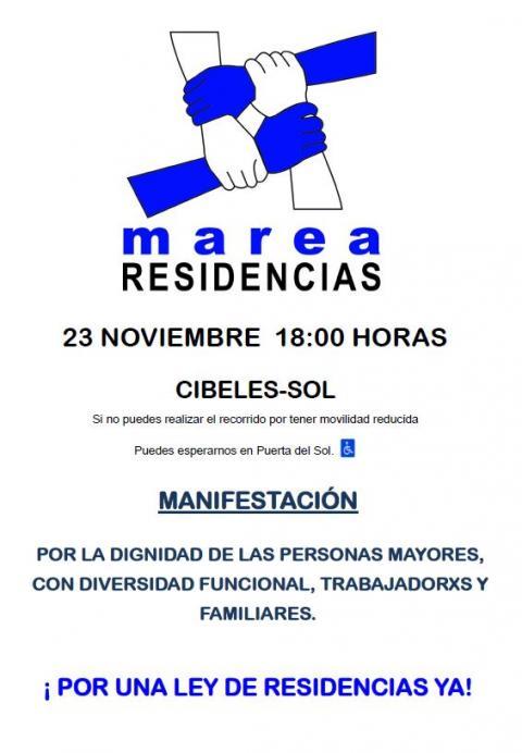 Manifestación Marea 23 Noviembre 18h en Cibeles ¡No faltes!