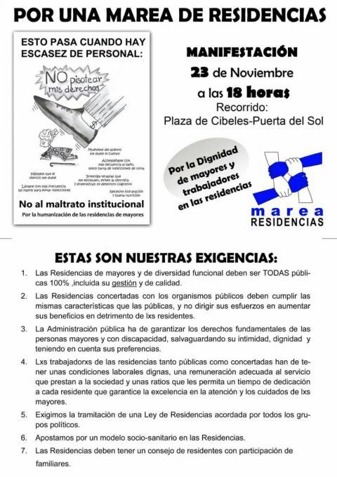 Manifestación 23 Nov- 18h Cibeles ¡No puedes faltar!